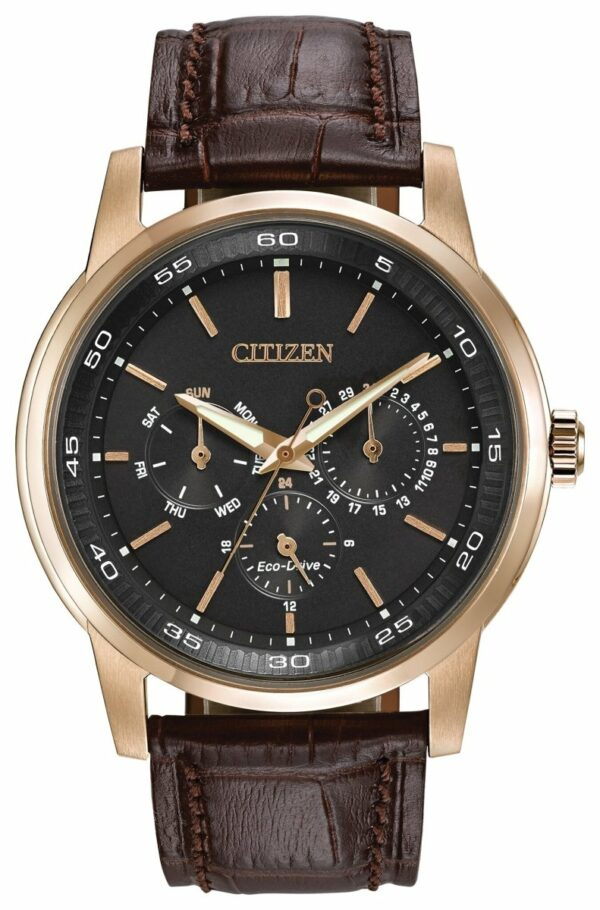 CITIZEN CITIZEN Corso Leather Strap Watch - Brown - Gemorie