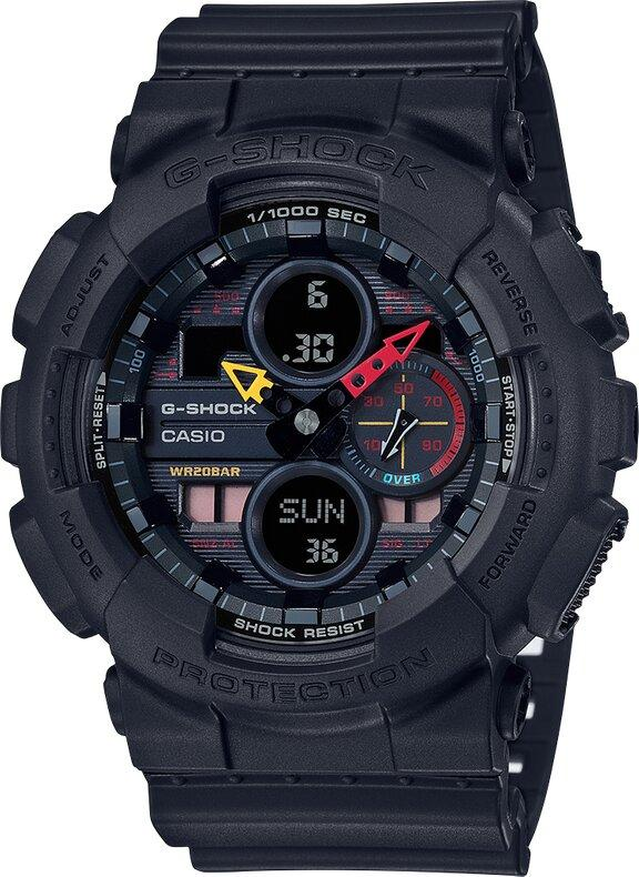 G-SHOCK G-SHOCK Amber LED Men's Analog Digital Watch - Black - Gemorie