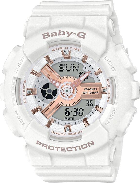 G-SHOCK G-SHOCK BABY-G Casual Fall and Winter Street Fashion Women's Watch - White - Gemorie