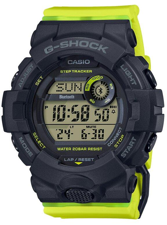 G-SHOCK G-SHOCK Bluetooth Connected Multiple Fitness Support Function Mineral Glass Women's Watch - Yellow & Black - Gemorie