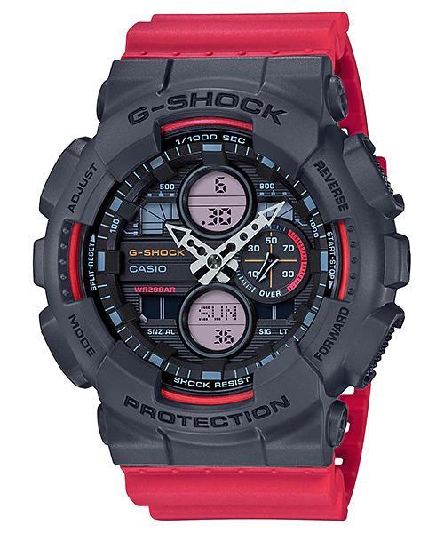 G-SHOCK G-SHOCK GA-140-4A MEN Casio- BLACK AND RED - Gemorie