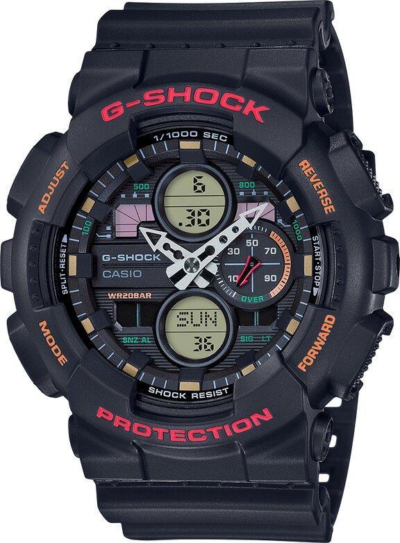 G-SHOCK G-SHOCK LED Mach Indicator Watch - Black & Red - Gemorie