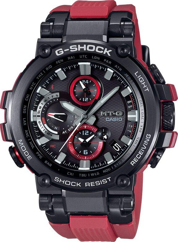 G-SHOCK G-SHOCK Limited Edition Triple G Resist Bluetooth Spherical Glass Men's Watch - Red & Black - Gemorie