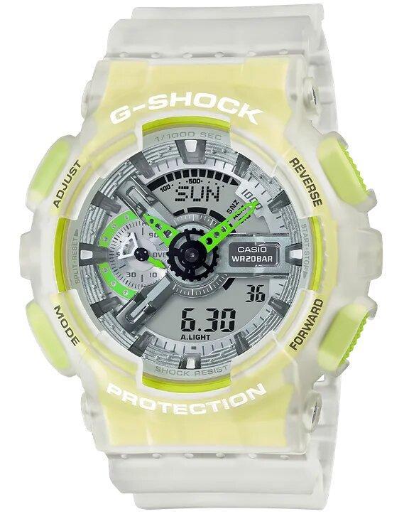 G-SHOCK G-SHOCK Shock Resistant Men's Analog Digital Watch - Clear & Yellow - Gemorie