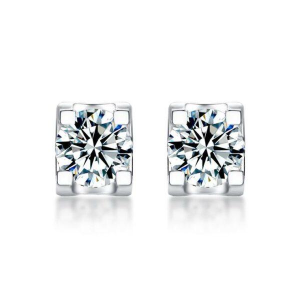"GEMODA GEMODA ""Bella"" Moissanite Stud Earrings in 925 Sterling Silver - Gemorie"