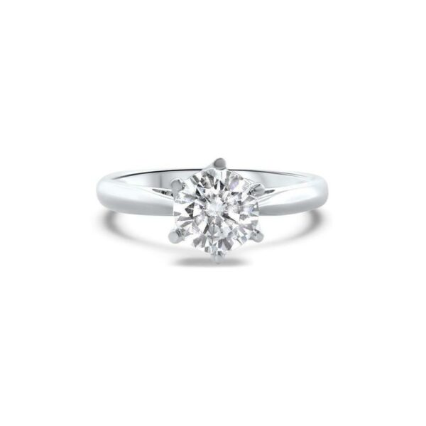 "GEMODA GEMODA ""Brilliance"" Moissanite 1ctw Signature Moissanite Round Solitaire 18k Engagement Ring - Gemorie"