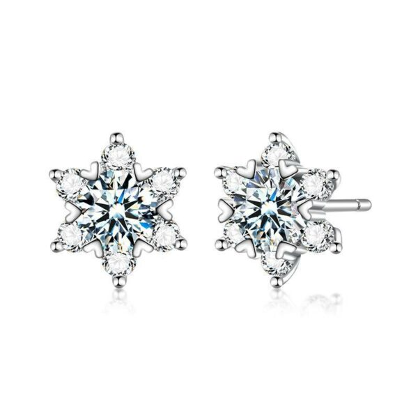 "GEMODA GEMODA ""Marquise"" 1 Carat Halo Setting Moissanite Stud Earrings in 925 Sterling Silver - Gemorie"