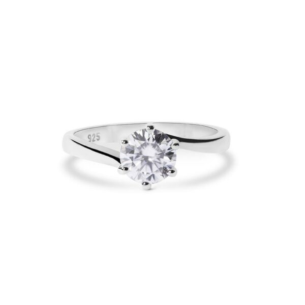 "GEMODA GEMODA ""Willa"" Tension Band Moissanite Ring in 925 Sterling Silver - Gemorie"