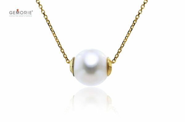 "Gemorie Gemorie ""Perle Éternelle"" Adjustable Women's Pearl Necklace- Yellow Gold - Gemorie"