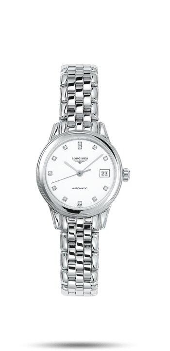 LONGINES LONGINES Flagship 12 Top Wesselton VS-SI Diamonds Women's Watch - Stainless Steel - Gemorie