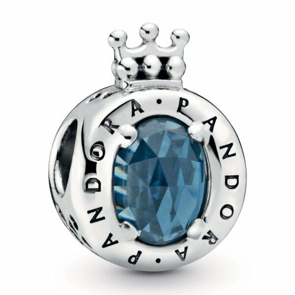 Pandora PANDORA Blue Sparkling Crown O Charm - Gemorie