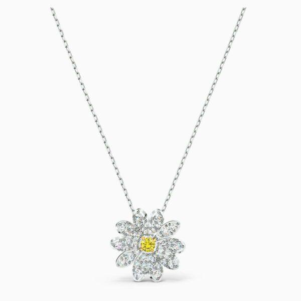 Swarovski SWAROVSKI Eternal Flower Pendant - Yellow & Mixed Metal Finish - Gemorie