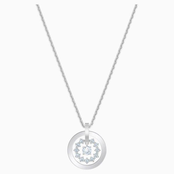 Swarovski SWAROVSKI Further Star-Like Necklace - White & Rhodium Plated - Gemorie