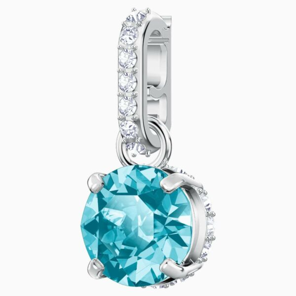 Swarovski SWAROVSKI REMIX COLLECTION CHARM, DECEMBER, BLUE, RHODIUM PLATED - Gemorie