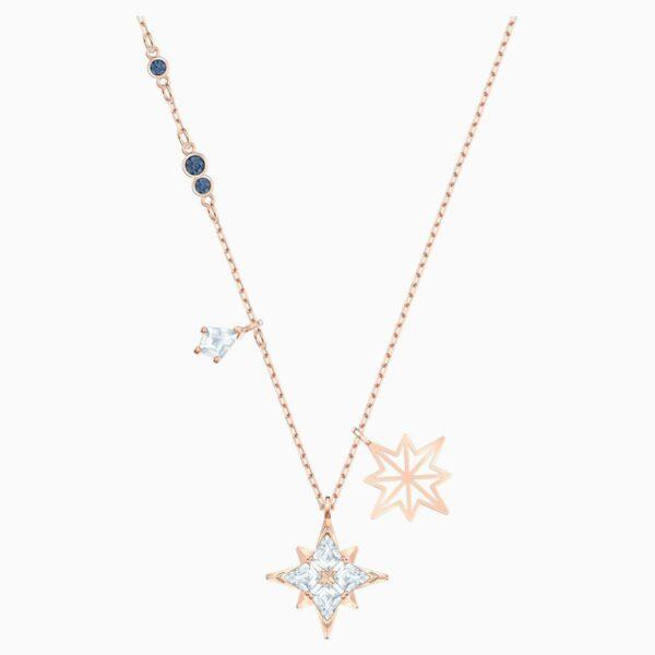 Swarovski SWAROVSKI Symbolic Star Pendant - White & Rose-Gold Tone Plated - Gemorie